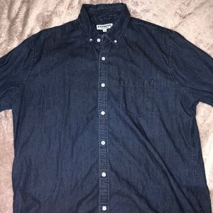 Express Jean Button Up Long Sleeve Shirt
